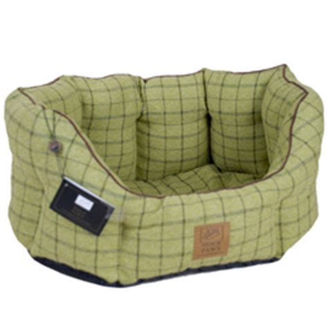 House Of Paws Tweed Oval Dog Bed Green Mole Valley Farmers