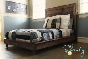 Diy Platform Bed With Headboard White Hailey Platform Bed Diy Projects