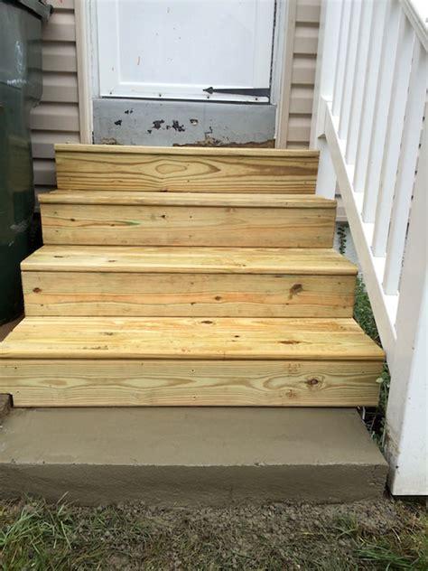 exterior wood steps glenside jr carpentry tile