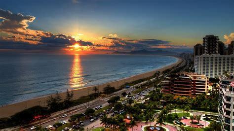 copacabana beach  sunset rio de janeiro brazil hd