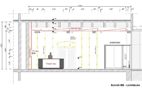 schnitt technische zeichnung schnitt durch das foyer schnitt bb in welchem die