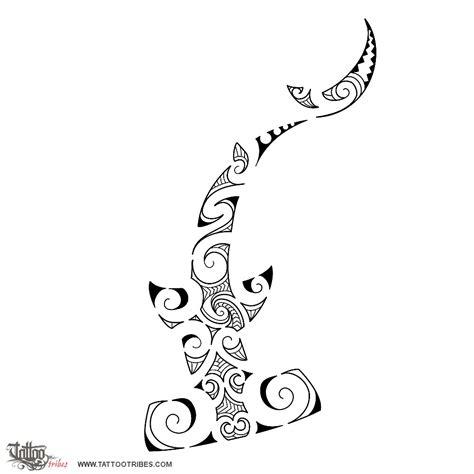polynesian shark tattoo designs of maori styled hammerhead shark maori series