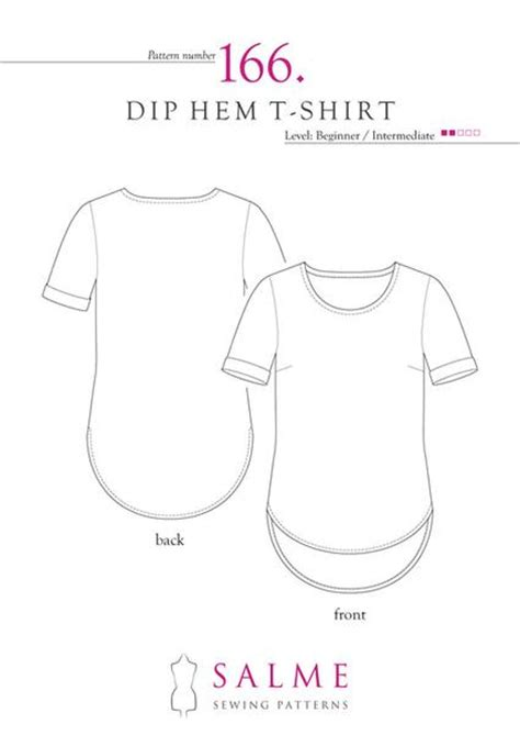 shirt pattern making tutorial pdf dip hem t shirt sewing pattern salme patterns