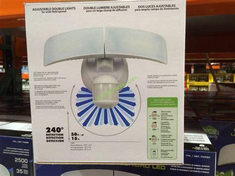 motion sensor light costco costco 710080 homezone led motion sensor security light