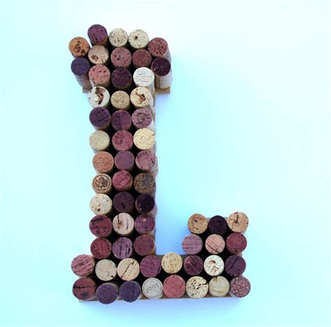 Wine Cork L by Wine Cork Letter L Made From Real Wine Corks Cork Letters Are