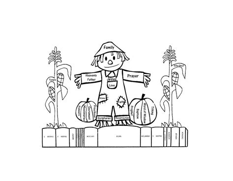Free Printable Scarecrow Coloring Pages For Kids Free Scarecrow Coloring Pages