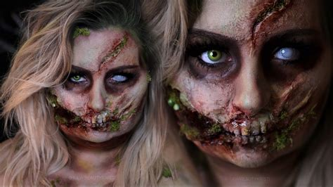 zombie mask tutorial rotten glam zombie halloween costume makeup tutorial