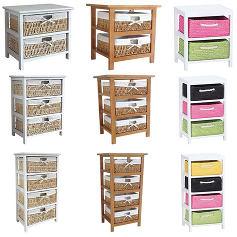 Wooden Bathroom Storage Units Maize Storage Unit 2 3 4 Wood Organiser Basket Drawers Bedroom Bathroom Cabinet Ebay