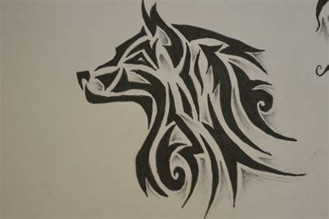 tribal wolf tattoo wolf tribal tattoos