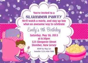 slumber party invitation personalized custom sleepover