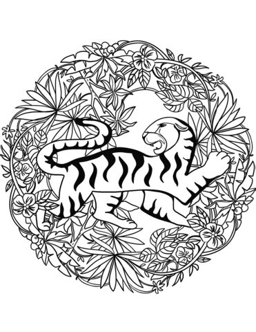 tiger mandala coloring pages tiger mandala coloring page free printable coloring pages