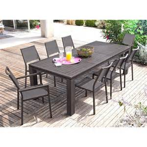 table de jardin extensible fiero en aluminium 180