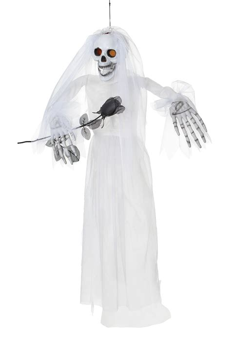 Where To Buy Short Curtains by Hanging Skeleton Bride Halloween Decoration Pageant