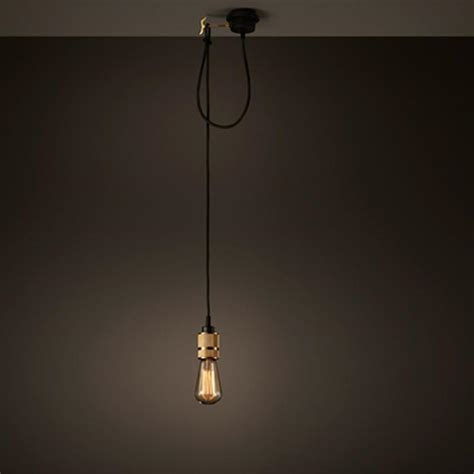 Single Bulb Pendant Light Hooked Industrial Brass Single Bare Edison Bulb Pendant Light Tudo And Co