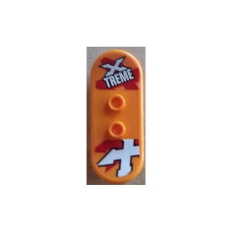 Lego Orange Roller Skate Lego Accessories lego minifig skateboard with four wheel with sticker from set 60023 42511 brick owl
