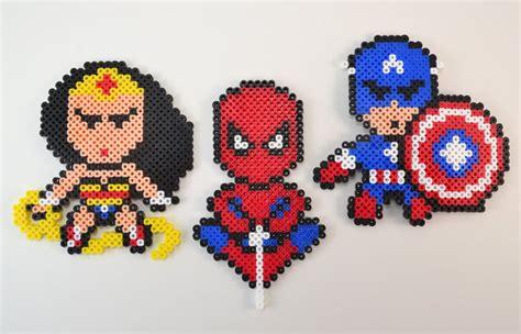 bead ornament patterns these perler bead superheroes make amazing