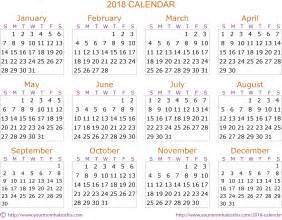 Calendar 2018 Pdf Hd 2018 Calendar Quality Calendars