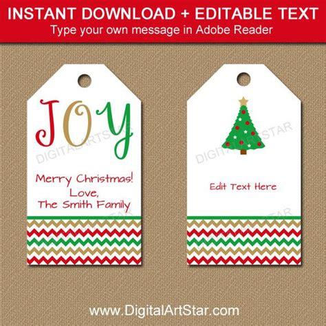 Printable Christmas Gift Tags Editable Christmas Hang Tags Gift Tag Template Editable