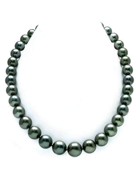 10 12mm tahitian south sea pearl necklace