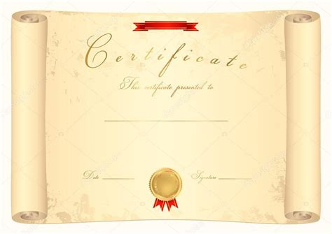 certificate scroll template scroll certificate diploma of completion template