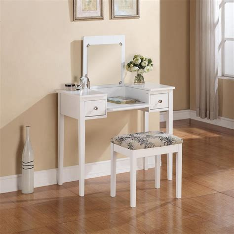 Bedroom Vanity Table Linon Home Decor White Bedroom Vanity Table With Butterfly Bench 98135whtx 01 Kd U The Home Depot