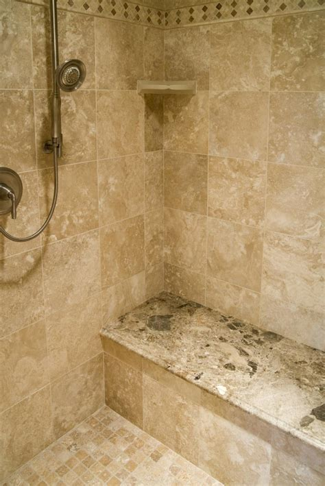 tiled shower ideas for bathrooms travertine tile shower photos