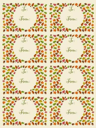 printable fall leaf tags 476 best images about free label printables on pinterest
