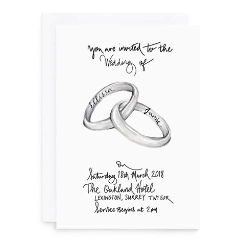 Wedding Invitations Ring Design by Ring Wedding Invitations By De Fraine Design