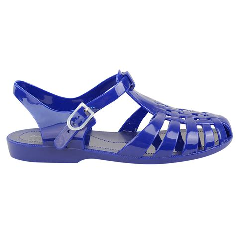 jelly sandals flat rubber retro 90s jelly buckle sandals flip