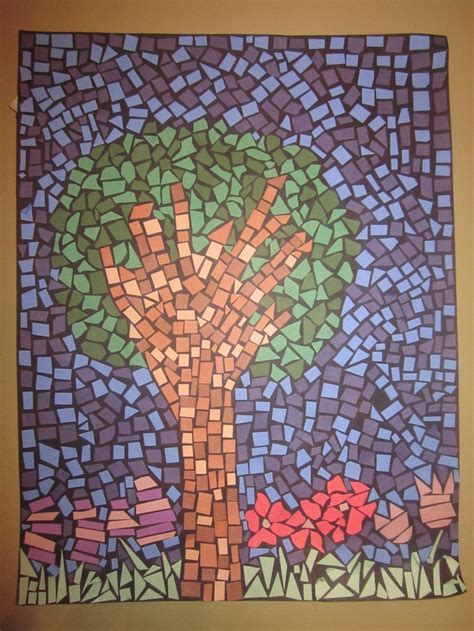 How To Make A Paper Mosaic Collage - best 25 paper mosaic ideas on construction