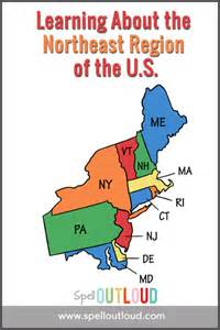learning about the northeast region of the u s spell
