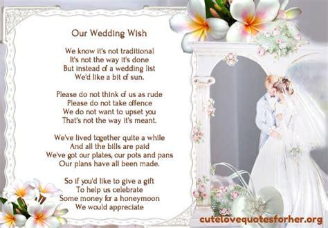 Wedding Invitation Poems For Money For Honeymoon