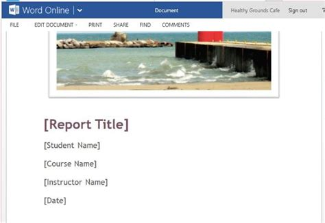 student report cover template student paper template for microsoft word