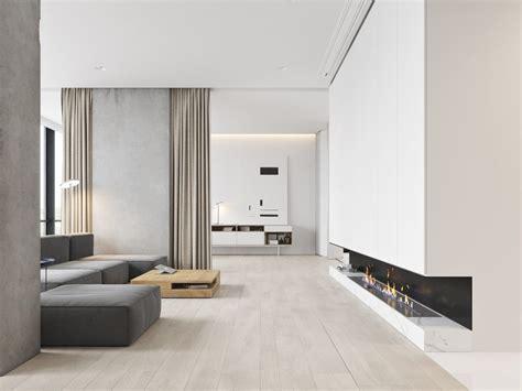 white themed homes  striking modern minimalist