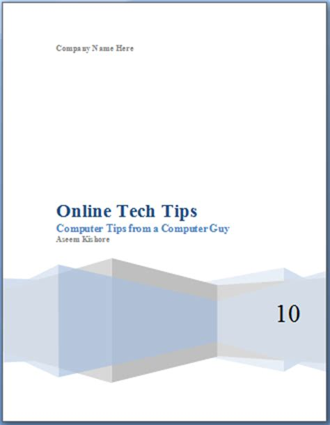 online templates for cover pages add a cover page to a word document