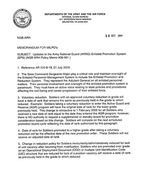 Promotion Board Letter To The President 10 Best Images Of Army Memo For Record Doc Army Memorandum For Record Template Army
