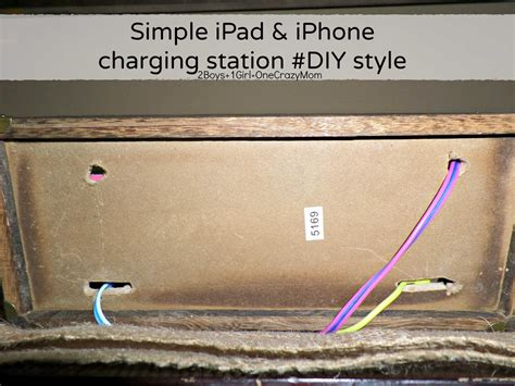 diy ipad charging station create a simple diy iphone and ipad charging station to