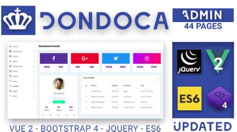 themeforest vue dondoca admin bootstrap4 vue by dondoquices themeforest