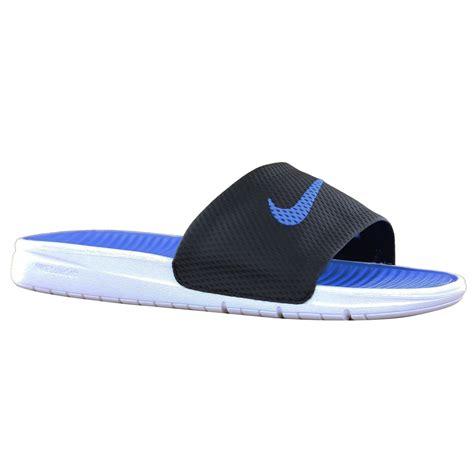 nike soft sandals nike benassi solar soft slide black blue mens sandals