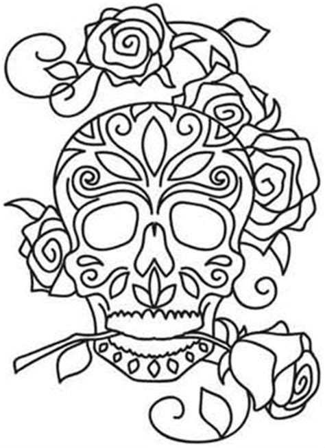 dia de los muertos skull template american hippie coloring pages sugar skull