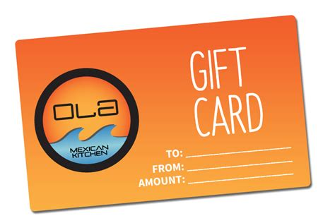 Food City Gift Card Number - gift cards ola mexican kitchen
