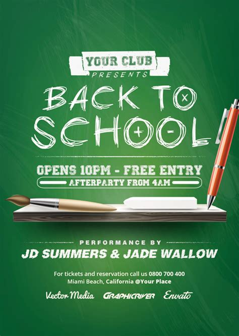 back to school flyer template back to school flyer by vectormediagr on deviantart