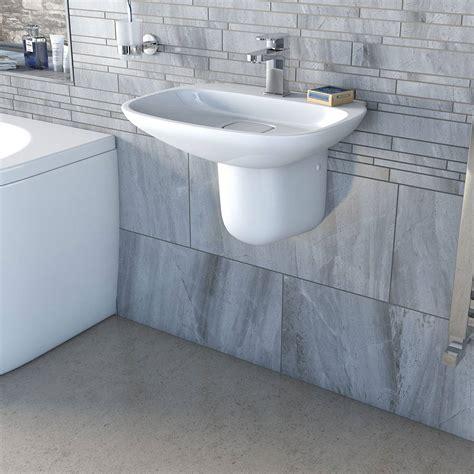 Bathroom Plumbing And Fitting Sandhurst Fairbanks 1th 500mm Basin And Semi Pedestal Victoriaplum