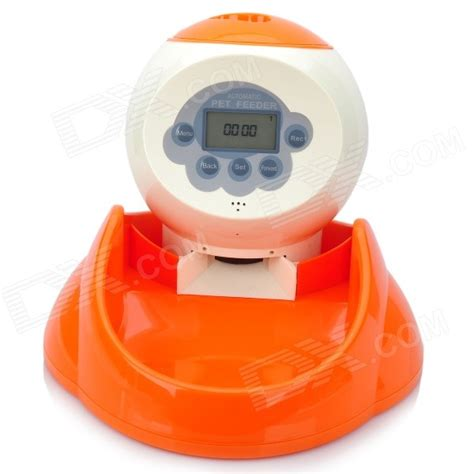 automatic feeder with timer automatic pet feeder with digital timer and 12 second voice recorder 4 aa free