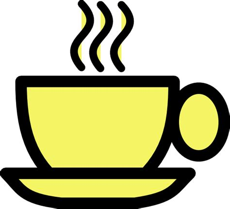 Yellow Tea Cup Clip Art at Clker.com   vector clip art online, royalty free & public domain