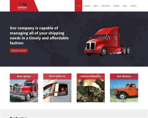 website templates for logistics company logistics website template template for logistics companies