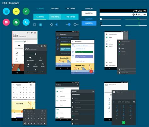 android themes ui free android material design ui kit psd freebies