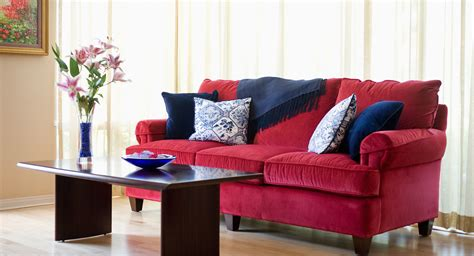 How To Decorate With A Red Sofa Pillows That Match With Your Sofa Adprosper Com