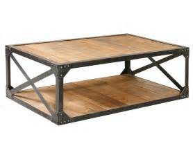 Rustic Wood And Metal Coffee Table Industrial Metal And Wood Coffee 51 Quot Table Rectangular