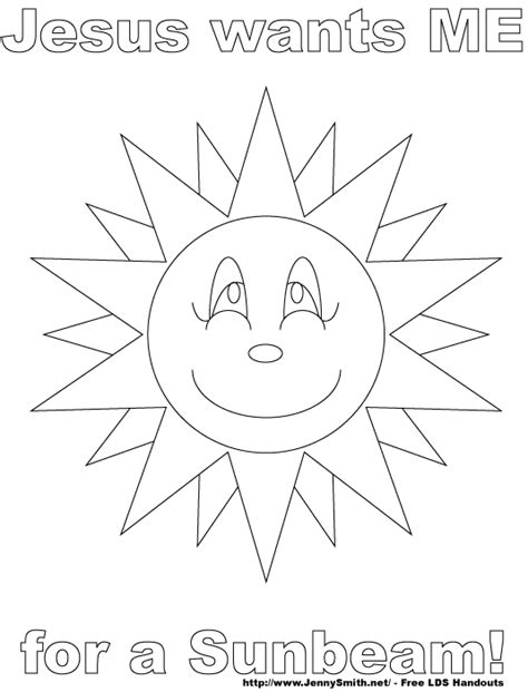 Mormon Share Jesus Wants Me For A Sunbeam Coloring Page 2 Lds Sunbeam Coloring Pages